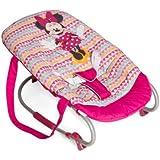 Hauck Disney Rocky Sdraietta Funzione Dondolamento Schienale Regolabile, Cintura di Sicurezza, Manici Trasporto Utilizzabile dalla Nascita fino a 9 kg, Anti-Rivolgimento, Minnie Geo Pink (Rose)