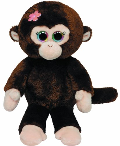 (Ty Beanie Babies Petals Monkey with Flower Plush)
