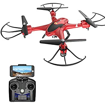 Holy Stone HS200 FPV RC Drone with HD WiFi Camera Live Feed 2.4GHz 4CH 6-Axis Gyro Quadcopter with Altitude Hold, Gravity Sensor and Headless Mode RTF ...