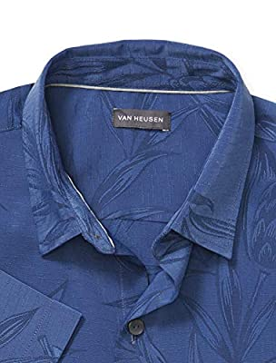Van Heusen Men's Big and Tall Air Tropical Short Sleeve Button Down Shirt
