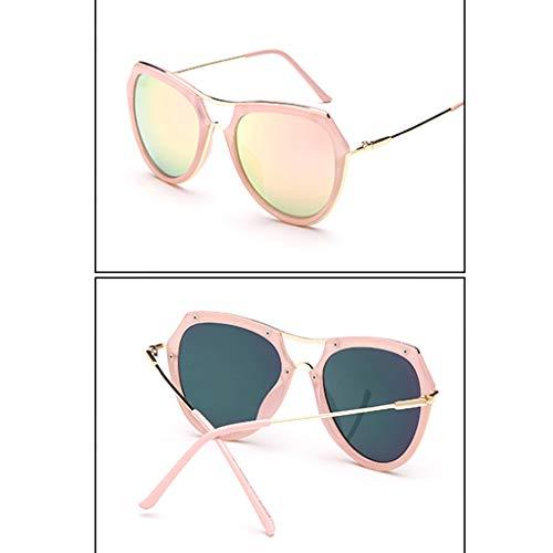 Face de Lunettes lunettes Personality Sport ovales Korean Face Des B de Cut soleil B Couleur Oceanic Soleil Femme 6XWY1w