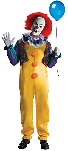 Rubie's mens It The Movie Adult Pennywise Adult Deluxe Costume, Multicolor, (Pennywise Costumes)