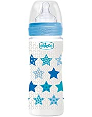 Chicco Wellbeing Pp Boys Bottle 4m+, Blue, 330ml
