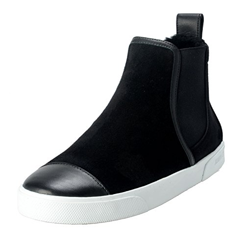 Jimmy Choo Womens Black Suede Shearling Lined Hi Top Ankle Boots Shoes Black 7mooeRA