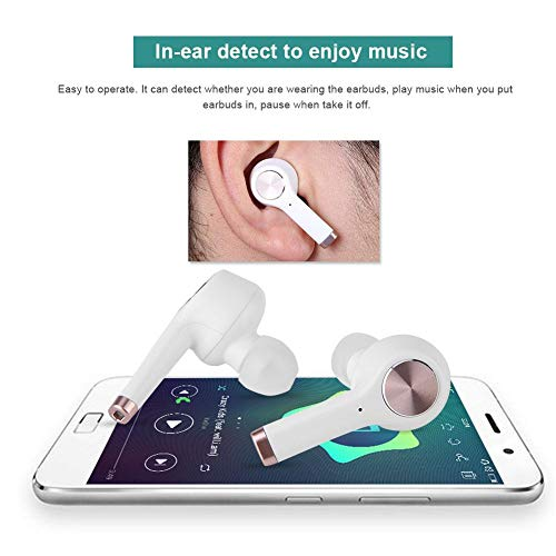 Translator Earbuds with Gift Charging Box,2 in 1 Bluetooth Headphone/ Real Time Wireless Language Translator Earphone Device Voice Translation Support 19 Languages Dual Mic & Noise Reduction(White) by fosa (Image #4)