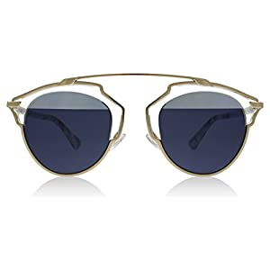 Dior SoReal 1TL90 Gold Marble SoReal Round Sunglasses Lens Category 2 Lens Mirr