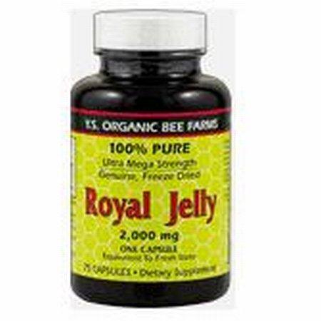 100% Pure Freeze Dried Fresh Royal Jelly - 2000 mg YS Eco Bee Farms 35 Caps - Pure Fresh Royal Jelly