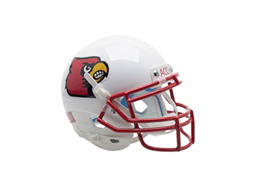 NCAA Louisville Cardinals Red Authentic Helmet, One Size by Schutt