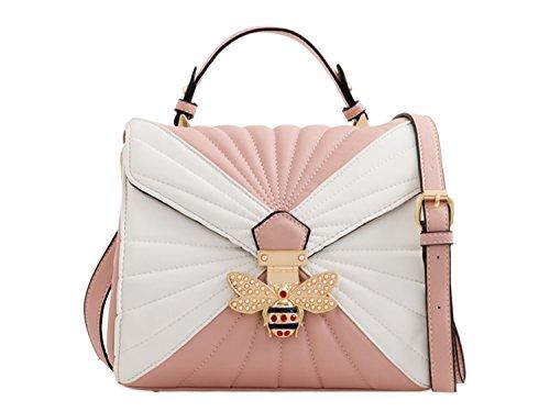 Bee Bee Handbags Floral Shoulder Blush Bag 61 Cross LeahWard White Body Women's 4xfwanHPqZ