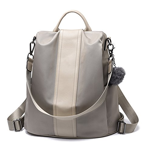 Rucksack Khaki Purse Women Bag Shoulder Travel Anti School Nylon Backpack theft XvxTFq