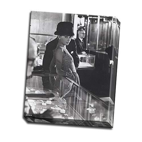 wallsthatspeak Audrey Hepburn in Black Fur Hat in