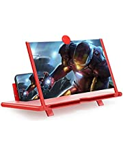 12'' Screen Magnifier,3D thin Mobile Phone Amplifier Foldable Screen Blu-ray Easy to Carry Gadgets for watching Movie Videos for All Smartphones(Rood)