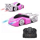 QUN FENG Ferngesteuertes Auto Fahrzeug Spielzeug für Kinder Jungen Mädchen Dual-Mode-360 ° RC Car mit Fernbedienung und Stunt Kletterwand Funktion Kids Toys for Boys Girls (Rosa)