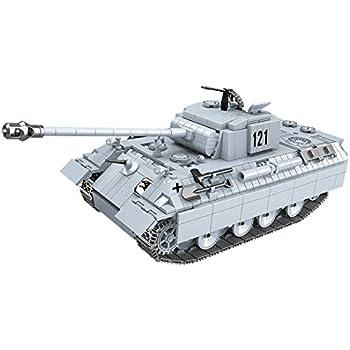 Lingxuinfo Tank Building Kit, 990 Pieces Panther Tank Military Army Tank Military Vehicles Bricks Building Blocks Toy