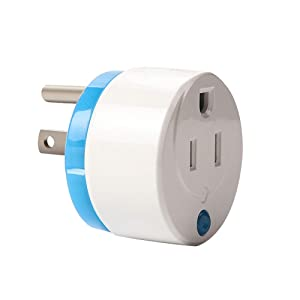HAOZEE Z Wave Plus Mini Smart Power Plug Home Automation Zwave Outlet,Z Wave Range Extender,Energy Monitoring,Works with Wink,SmartThings & more ¡­