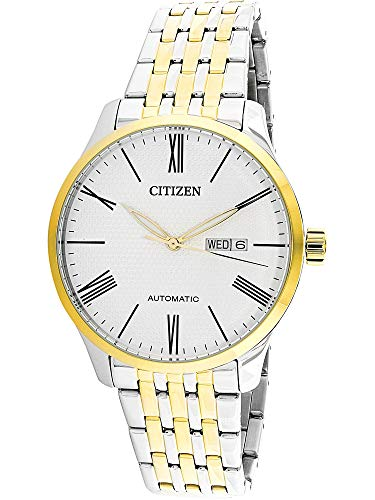 Citizen Men's NH8354-58A Silver Stainless-Steel Japanese Automatic Dress Watch