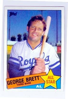 George Brett baseball card (Kansas City Royals Hall of Fame) 1985 Topps #703 All Star