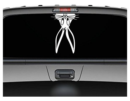 (Bugs Bunny Peeking upside down funny car truck SUV Decal sticker - Sticker Graphic - Auto, Wall, Laptop, Cell )