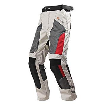 Xuba Unisex Summer Motorcycle Cycling Pants Mesh Motorcycle Pants Waterproof Breathable Racing Pants Dark Green L