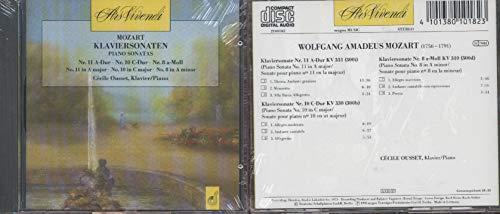 Mozart Piano Sonatas No 11 in A Major No 10 in C Major No 8 in A Minor (Cecile Ousset) (Mozart Piano Sonata No 8 In A Minor)