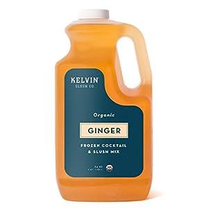 KelvinOrganic Frozen Cocktail & Slush Mix (Ginger) – Bottle 64 oz –Award-WinningSlush Machine & Blender Mix, Bars, Restaurants, At Home