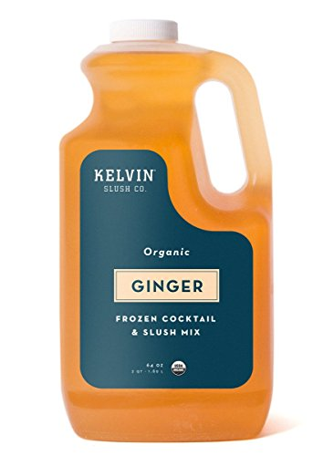 Kelvin Slush Co. - Ginger - Organic Frozen Cocktail & Slush Mix - Award-Winning Slush Machine & Blender Mix, Bars, Restaurants, At Home (64 oz - Beer Machine Beer Ale