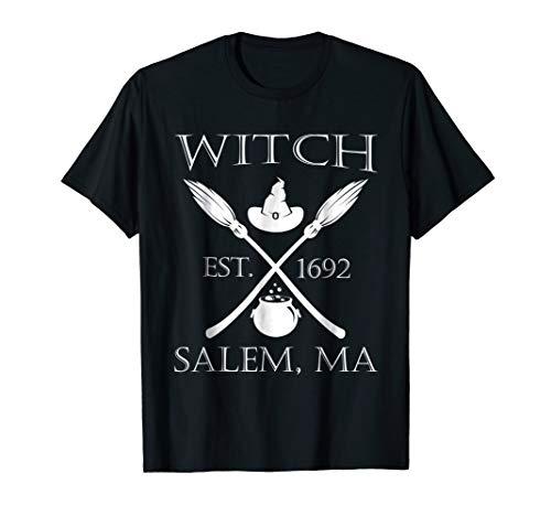 Funny Halloween Witch Est 1692 Salem MA Tshirt]()