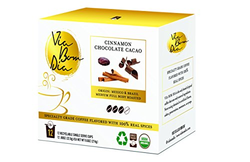 Innately FLAVORED ORGANIC K-CUP COFFEE PODS | Cinnamon Chocolate | 12-PK Box for Single-Serve Keurig Machines | Specialty gourmet coffee + cacao + cinnamon