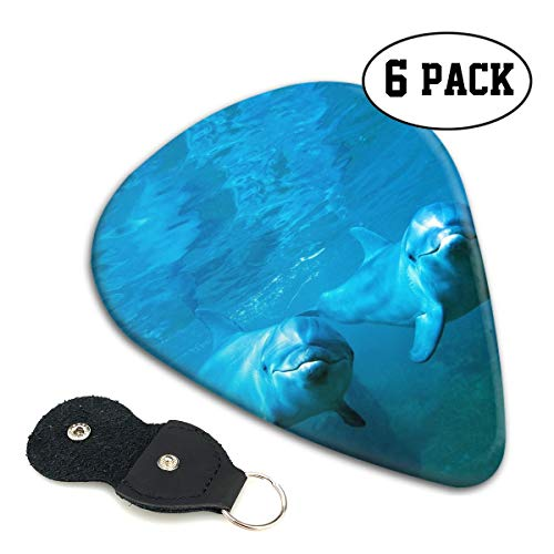 - Dolphin Porpoise Coulple Guitar Picks 351-shaped .96mm 6pcs+A Storage Bag ABS Celluloid Plectrum Design for Universal Electric Acoustic Guitars Bass Kids Adults Hot Stockings