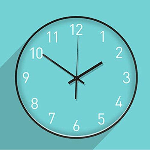 カラーウォールモダンリビングルームベッドルームアートサイレント小さな新鮮な壁時計 ( Color : Blue ) B07CPLKJZY Blue Blue