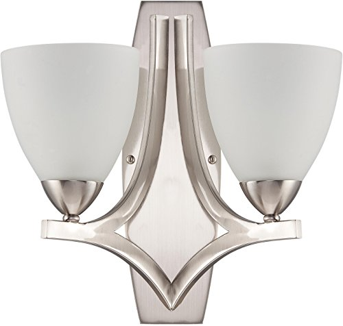 Craftmade 37762-SN Almeda Wall Sconce, Satin Nickel 2-Light (17