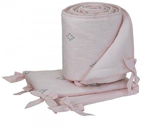 ce Crib Bumper Pink/Silver/Off White ()