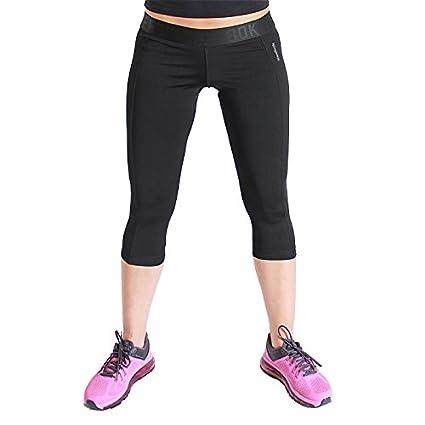 Reebok WOR Capri B86320 Damen Sporthose Caprihose Trainingshose Schwarz