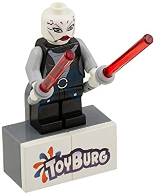 Asajj Ventress with 2 Red Lightsabers with Special Handle Included~ Lego Star War's Minifigure New 2011