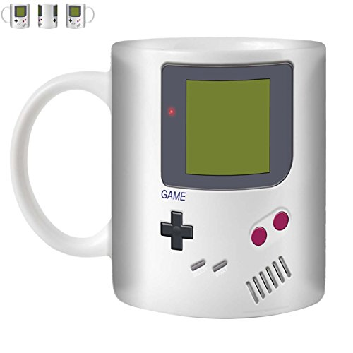 STUFF4 Tea/Coffee Mug/Cup 350ml/White/Nintendo GameBoy Inspired/White Ceramic/ST10