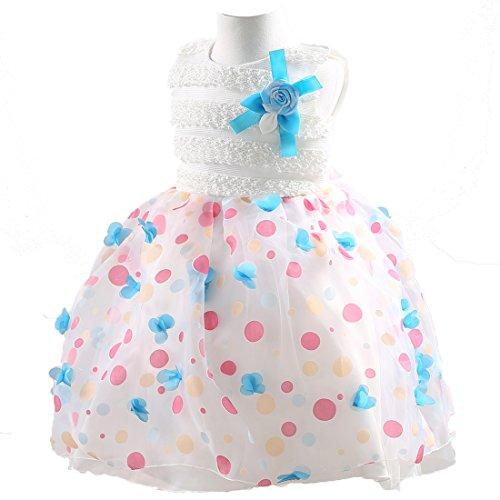 Pageant Christmas Wear (Rainbow Rain Flower Girl Sleeveless Tulle Layers Skirt ,Princess Dress, Costume Evening Dress for Pageant Wedding Birthday)