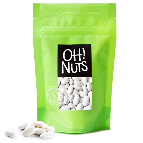 - White Jordan Almonds Thin Sugar Coating Large Super Fine Premium 2 Pound Bag - Oh! Nuts