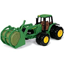 John Deere 7220 Tractor with Bale Mover