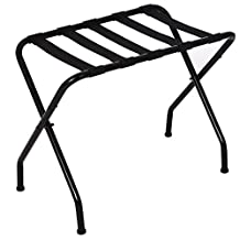 SONGMICS Metal Folding Luggage Rack Black URLR64B