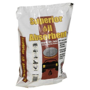 Superior Oil Absorbent, 40 lbs, Poly Bag, Clay - one bag of oil absorbent.