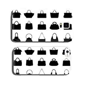 Big set of black silhouettes of handbags 2, vector cell phone cover case iPhone6
