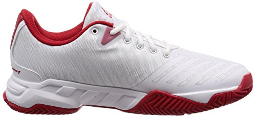Silver Scarlet Adidas Blanco White 0 3 Footwear de Zapatillas Matte Court Hombre para Barricade Tenis OSW4O7