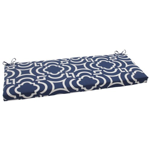 Pillow Perfect Indoor/Outdoor Carmody Bench Cushion, Navy (Bay Window Banquette)