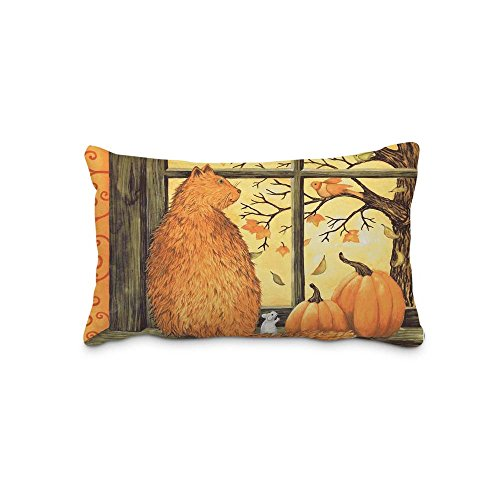 Digital Print Decorative Home Pillow Cushion Covers Sofa Chair Seat Festival Halloween Pillow Case Rectangle 20x30 Inch For Pillow(Twin Sides)