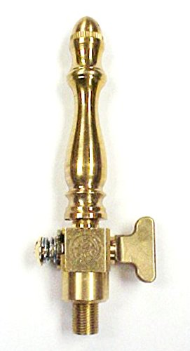 Brass Spindle (SP101) Open Flame Burner & Valve for Gas Light - Natural Gas