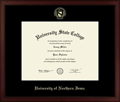 University of Northern Iowa - Officially Licensed - Masters- Gold Embossed Diploma Frame - Diploma Size 13