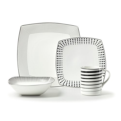 Mikasa Cheers Square 4-Piece Place Setting, Service for (Mikasa Square Plate)