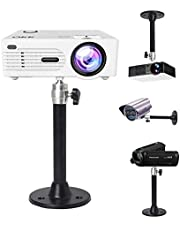 2-Be-Best Universal Ceiling Projector Mount,Hanger 360° Rotatable Head with Length /7inch/180mm Projection for Mini Projector CCTV DVR Camera Black