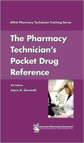 The Pharmacy Technician's Pocket Drug Reference by Joyce A Generali (2006-11-01)