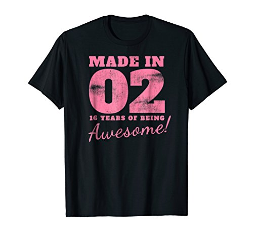 Sweet 16th Birthday Party Gifts 16 Years Old 2002 T-Shirt -